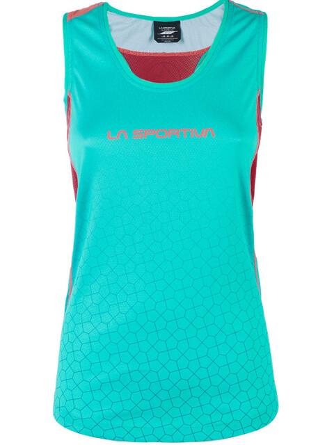La Sportiva Calypso - Camiseta sin mangas running Mujer - rojo/Turquesa